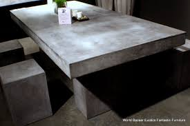 dining table furniture bazaar. lately dining table desk solid concrete cement modern sealed indoor outdoor || furniture bazaar b