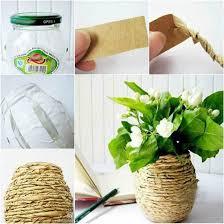 Flower Vase With Paper How To Diy Kraft Paper Decorated Flower Vase