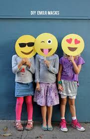 diy emoji masks by alice lois