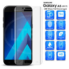 samsung a5. samsung galaxy a5 (2017) sm-a520 - 3d curved glass screen protector (clear)
