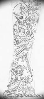 черно белый эскиз тату рукав на руку 11032019 004 Tattoo Sketch