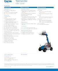 Genie 5519 Load Chart Genie Gth 5519 Product Specifications Telehandler_spec_1 22 14