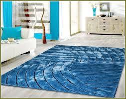 image of soft modern blue rug