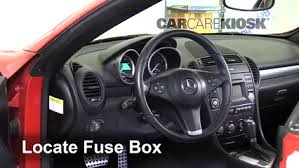 interior fuse box location 2005 2011 mercedes benz slk300 2009 mercedes slk r171 fuse box location at Mercedes Slk Fuse Box Location