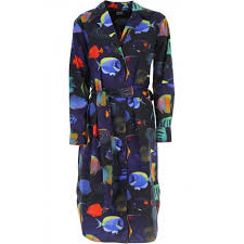 Paul Smith Clothing For Women Dresses Fish Pattern Spring