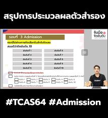 TCASter - สรุปการประมวลผลตัวสำรอง #Admission #TCAS64