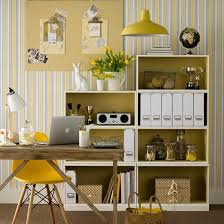 Image Black White Yellow Neutral Home Office With Yellow Accents Yellow And Grey Decorating Ideas Ideal Home Housetohomecouk Pinterest Neutral Home Office With Yellow Accents Inside Art Studio Home