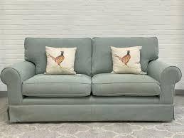 3 seater fabric sofa duck egg blue