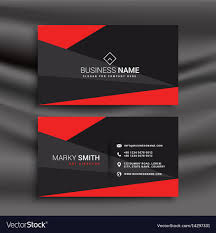 business card tamplate black and red business card template with
