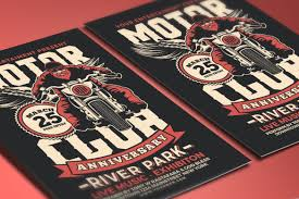 motorcycle club flyers motorcycle club event flyer by muhamadi design bundles