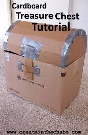 cardboard pirate treasure chest tutorial makes a fun treasure chest createinthechaos
