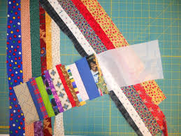 "string-pieced quilt | abyquilts & After trimming the foundation-pieced border strips and cutting the strip- pieced units in 5″ increments, I positioned them ""randomly"" around the quilt  on my ... Adamdwight.com"