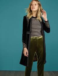Esme Velvet Coat T0079 Coats At Boden Fashion Sneakers