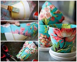 DIY Cloth Decorated Vase