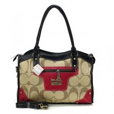 Coach Legacy Logo In Signature Medium Khaki Satchels BPR