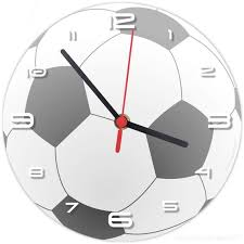 football wall clock matches our boys