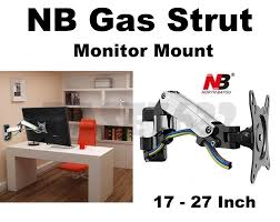 nb f150 17 to 27 inch gas strut monitor tv wall bracket holder mount