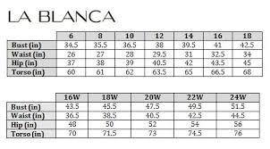 Swimstyle Fit Guide Size Charts By Brand