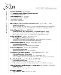 sample photography resumes sample photographer resume 9 examples in word pdf