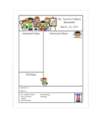 Teachers Newsletter Templates 50 Free Newsletter Templates For Work School And Classroom