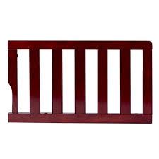 universal convertible crib guard rail in cherry