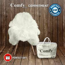 top rated s sheepskin faux fur chair cover rug seat pad area rugs for bedroom sofa floor vanity nursery decor ivory