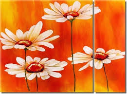 showy painting and frame flower oil painting frames diy