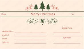 christmas certificates templates tree christmas gift certificate template