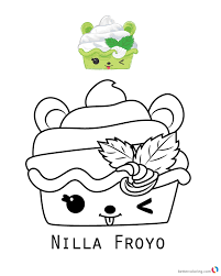 Num Noms Coloring Sheet Series 2 Nilla Froyo Free Printable