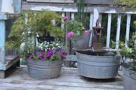 galvanized tubs and buckets container