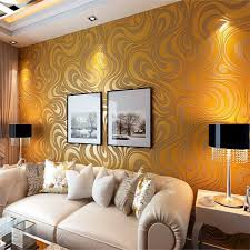 Q QIHANG 3D Abstract Curve Modern Luxury Flocking Striped Wallpaper Gold  0.7m*8.4m=5.88m2-in Wallpapers from Home Improvement on Aliexpress.com |  Alibaba ...
