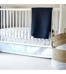 navy blue crib skirt item hello spud family and per brown light baby boy bedding set
