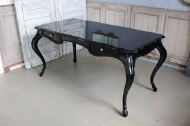 black writing desk. American Writing Desk With Two Drawers, Recently Lacquered Black. Circa 1950s Black