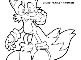 Tails Coloring Pages Fox To Print The Sonic Exe Anoukowin