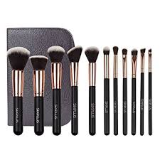 sixplus makeup brushes cosmetics professional essential 11 piece royal golden make