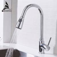 Kitchen <b>Faucets</b> Silver Single Handle Pull Out Kitchen Tap Single ...