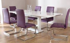 dining room enticing contemporary interior design inspiration for your dining room modern purple chairs with glossy silver backrest and glossy white