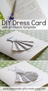 Book-Print Dress Card Template