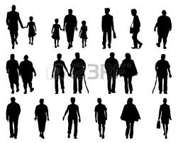 Stock Vector Art Sketches Of People Painting People Walking