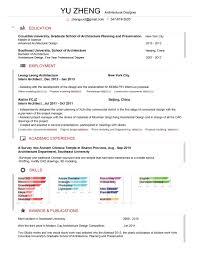 Resume Yuzheng Architecture