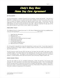 Daycare Contract Template Free Free Printable Daycare Forms For Parents A Best Sample
