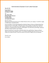 Sample Administrative Assistant Cover Letter Example