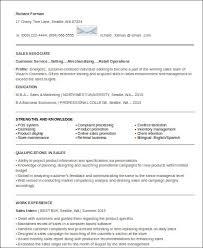 Entry Level Sales Associate Resumes Sample Entry Level Sales Resume 7 Examples In Word Pdf