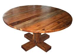 round wooden dining table distressed wood rustic small