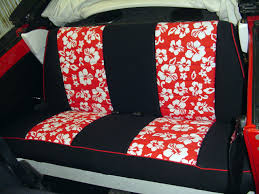 volkswagen bug pattern seat covers rear seats