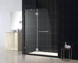aqua lux shower door brushed nickel finish