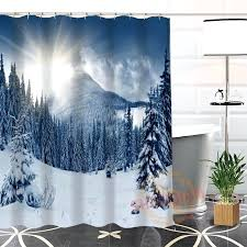 mountain shower curtain hot new friendly custom unique winter mountains modern shower curtain bathroom with hooks mountain shower curtain