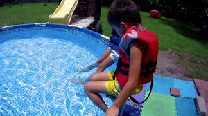 our new intex swimming pool metal frame 10 x30