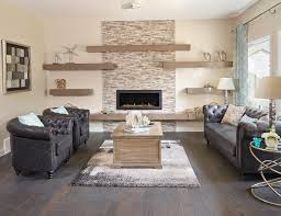 edmonton wall shelves living room contemporary with tufted sofa modern fireplaces stone fireplace