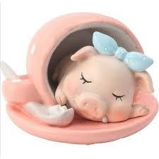 lazy pig life ornaments greedy pig cute